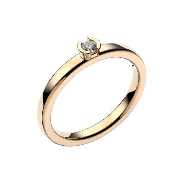 Schalins Vigselring 18k guld Rhen 0,07 ct diamant