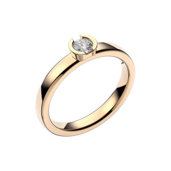 Schalins Vigselring 18k guld Rhen 0,20 ct diamant