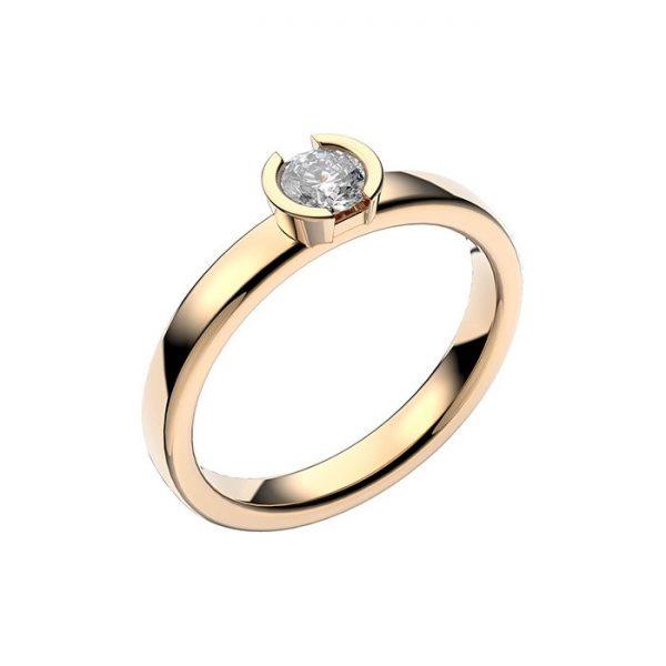 Schalins Vigselring 18k guld Rhen 0,30 ct diamant
