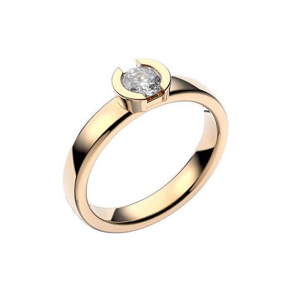Schalins Vigselring 18k guld Rhen 0,40 ct diamant