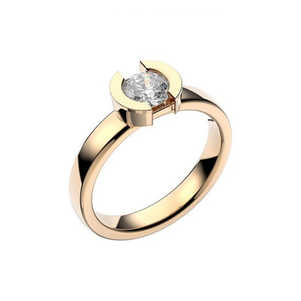 Schalins Vigselring 18k guld Rhen 0,60 ct diamant