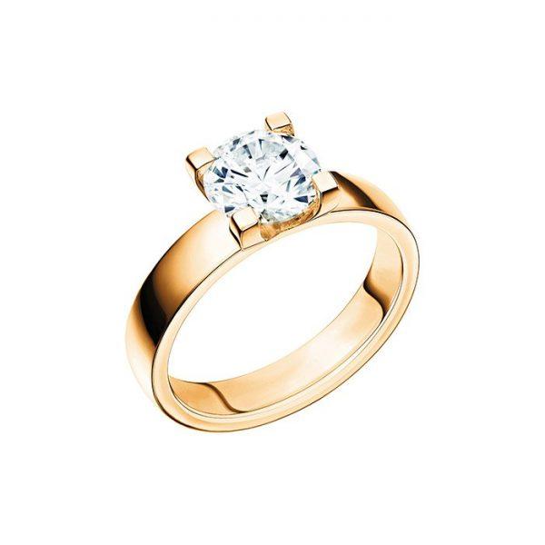 Schalins Vigselring 18k guld Seine 1,60 ct diamant