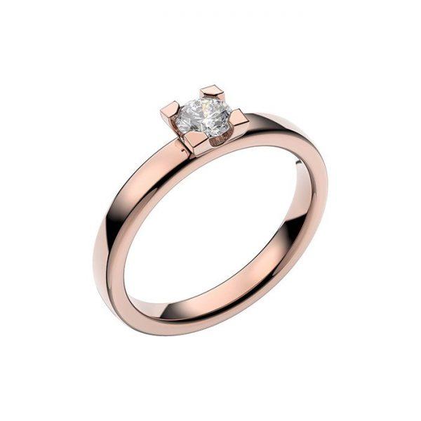 Schalins Vigselring 18k roséguld Seine 0,30 ct diamant