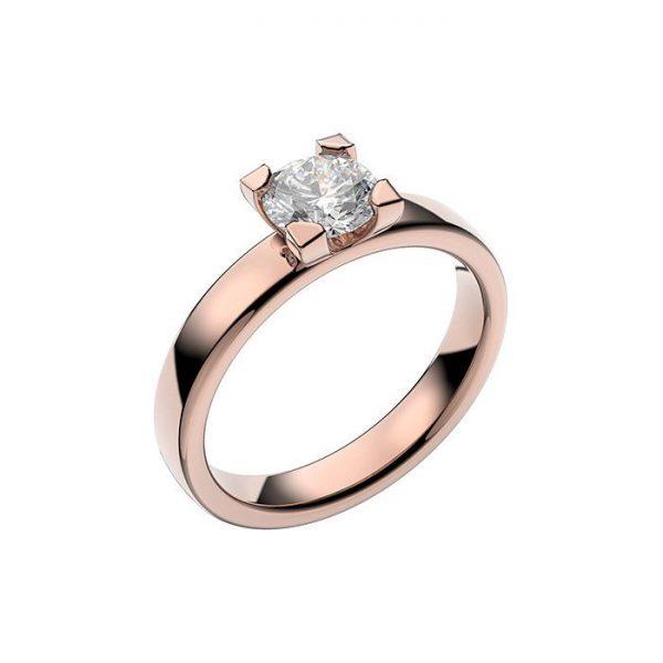 Schalins Vigselring 18k roséguld Seine 0,60 ct diamant