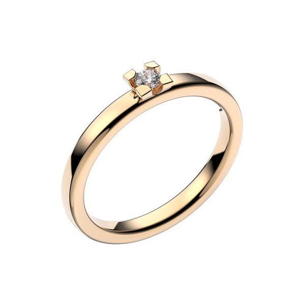 Schalins Vigselring 18k vitguld Seine 0,07 ct diamant