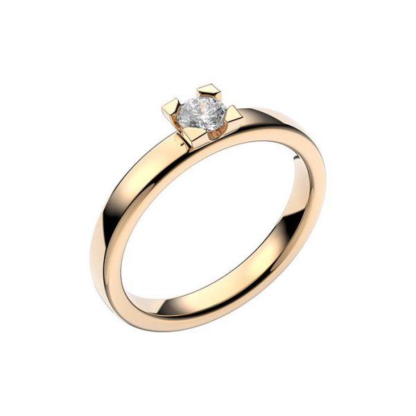Schalins Vigselring 18k vitguld Seine 0,20 ct diamant