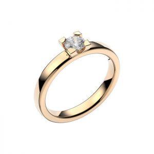 Schalins Vigselring 18k vitguld Seine 0,30 ct diamant