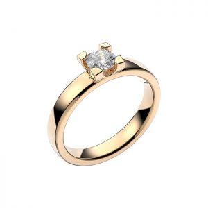 Schalins Vigselring 18k vitguld Seine 0,40 ct diamant