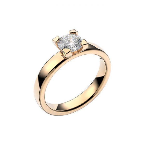 Schalins Vigselring 18k vitguld Seine 0,60 ct diamant