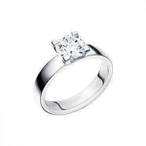 Schalins Vigselring 18k vitguld Seine 1,30 ct diamant