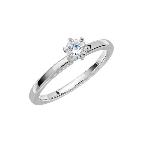 Schalins Vigselring Love 01 14k vitguld 0,35 ct diamant