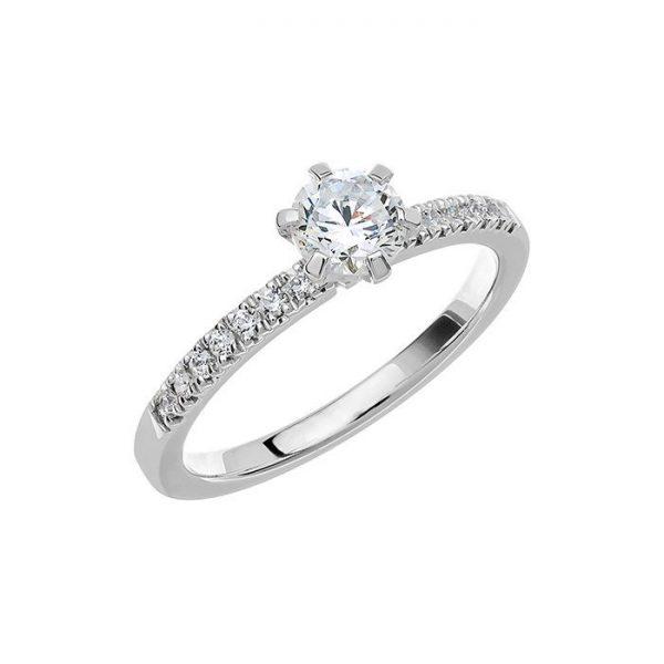 Schalins Vigselring Love 02 14k vitguld 0,64 ct diamant