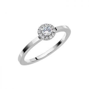 Schalins Vigselring Love 03 14k vitguld 0,21 ct diamant