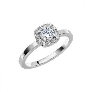 Schalins Vigselring Love 04 18k vitguld 0,52 ct diamant