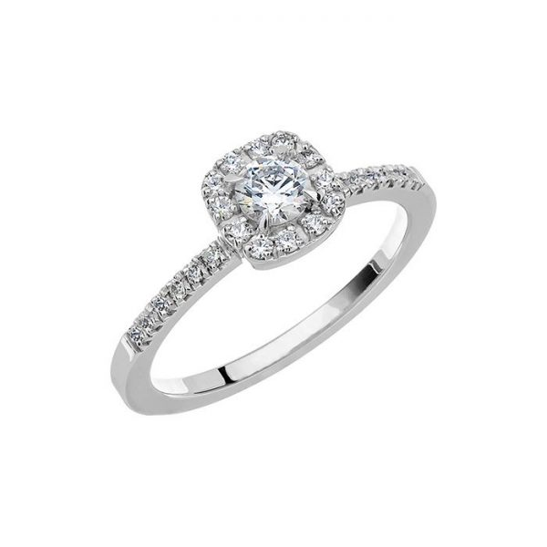 Schalins Vigselring Love 05 14k vitguld 0,46 ct diamant