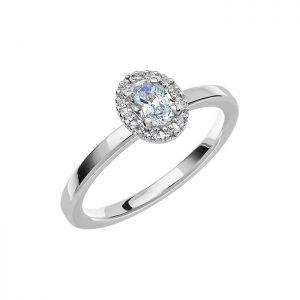 Schalins Vigselring Love 06 18k vitguld 0,39 ct diamant