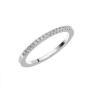 Schalins Vigselring Love 07 18k vitguld 0,13 ct diamant