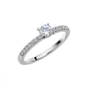 Schalins Vigselring Love 08 18k vitguld 0,49 ct diamant
