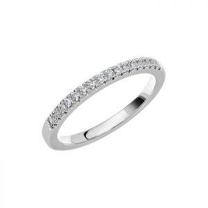 Schalins Vigselring Love 09 14k vitguld 0,16 ct diamant