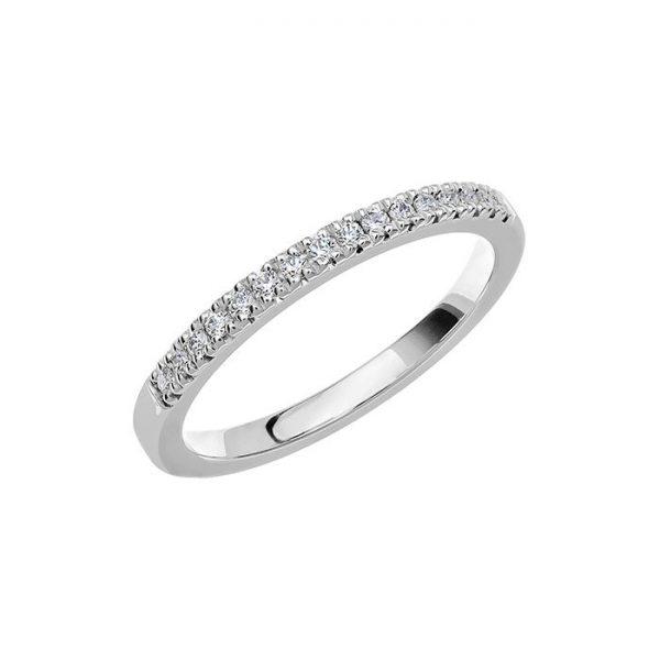 Schalins Vigselring Love 09 18k vitguld 0,16 ct diamant