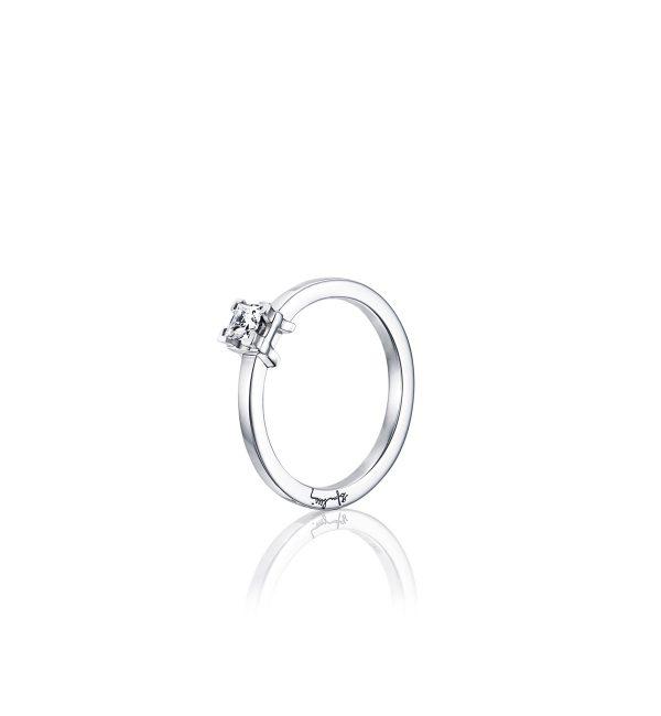 Efva Attling E Wedding Ring Vitguld 0,30 ct