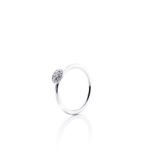 Efva Attling Love Bead Ring - Diamonds Vitguld