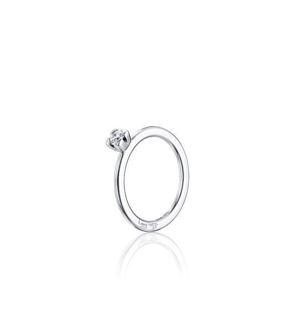 Efva Attling Love Bead Wedding Ring Vitguld 0,19 ct