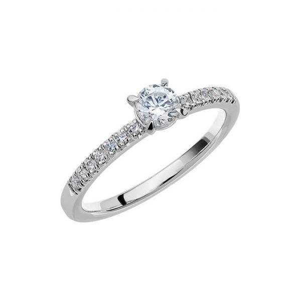 Schalins Vigselring Love 08 14k vitguld 0,49 ct diamant