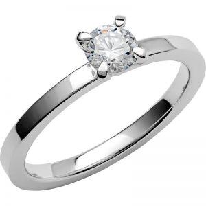 Schalins Vigselring Love 10 18k vitguld 0,4 ct diamant