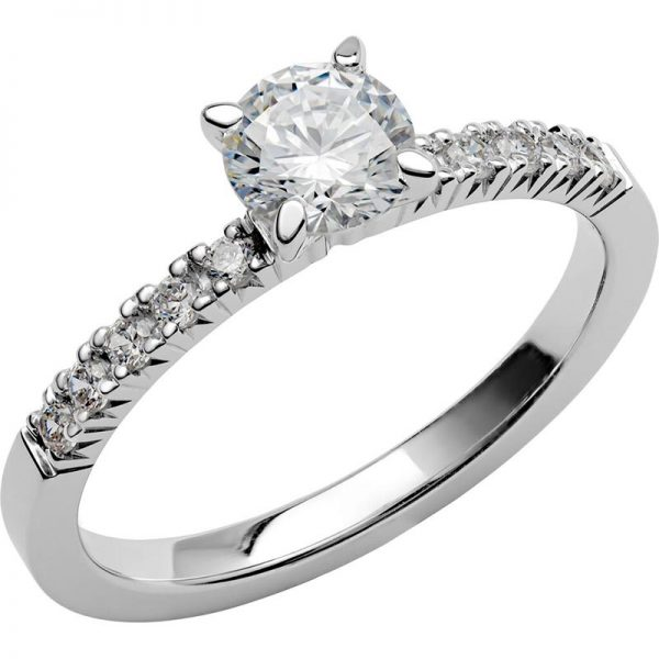 Schalins Vigselring Love 11 18k vitguld 0,8 ct diamant