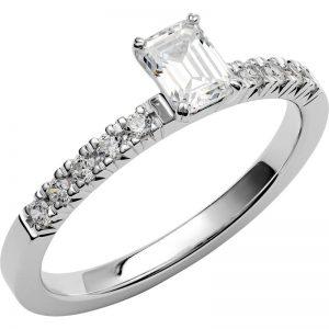 Schalins Vigselring Love 12 18k vitguld 0,7 ct diamant