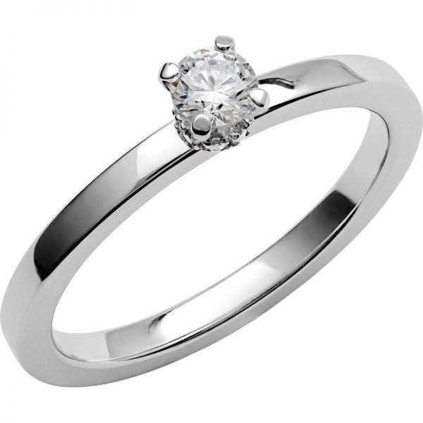 Schalins Vigselring Love 13 18k vitguld 0,24 ct diamant