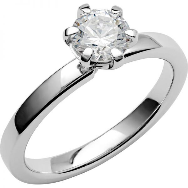 Schalins Vigselring Love 15 18k vitguld 0,75 ct diamant