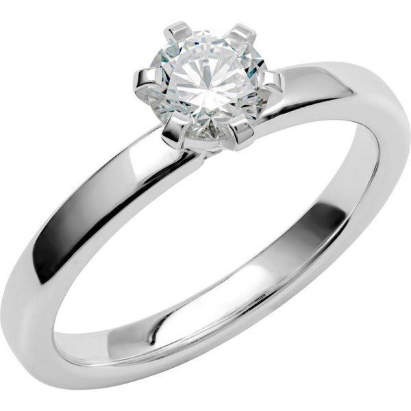 Schalins Vigselring Love 16 18k vitguld 0,60 ct diamant