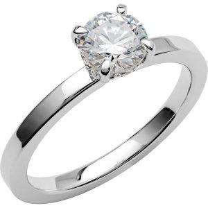 Schalins Vigselring Love 17 18k vitguld 0,81 ct diamant
