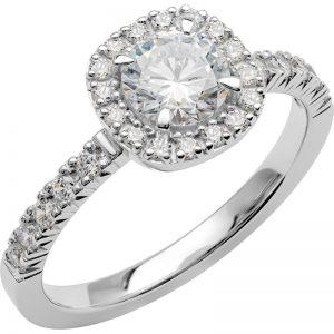 Schalins Vigselring Love 18 18k vitguld 1,11 ct diamant